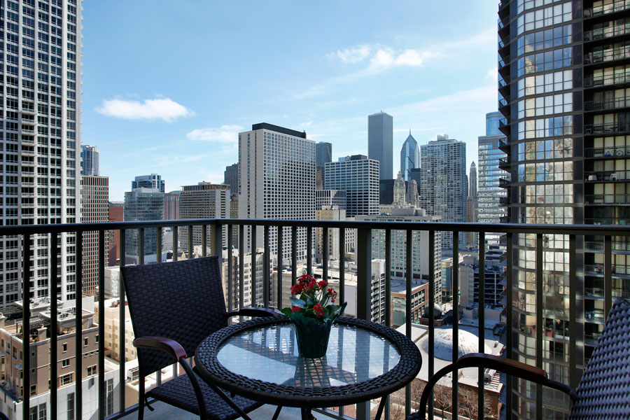 condo view of downtown Edmonton for a new couple who moved into their first home together with the help of a private mortgage lender who works with clients looking to purchase condos